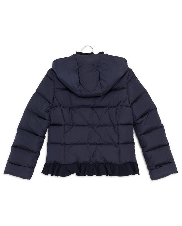 Short hooded down jacket with ruffles IL GUFO