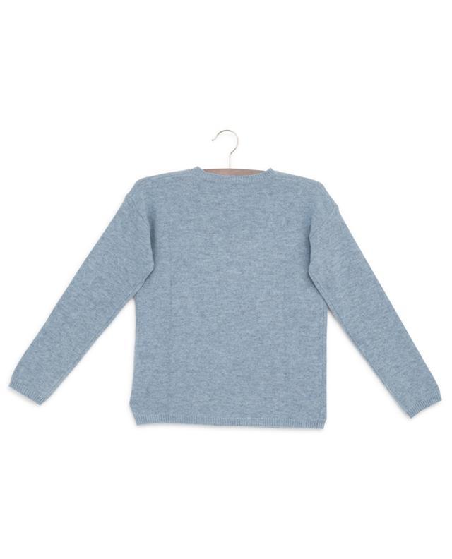 Pull en laine vierge avec broderie de fleurs IL GUFO