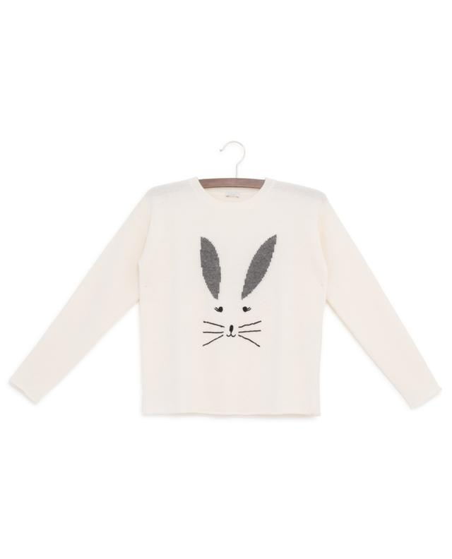 Virgin wool jumper with rabbit embroidery IL GUFO