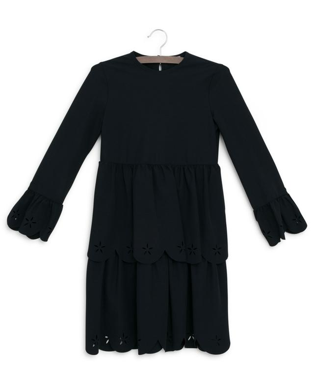 Ruffled dress with laser cut-outs IL GUFO