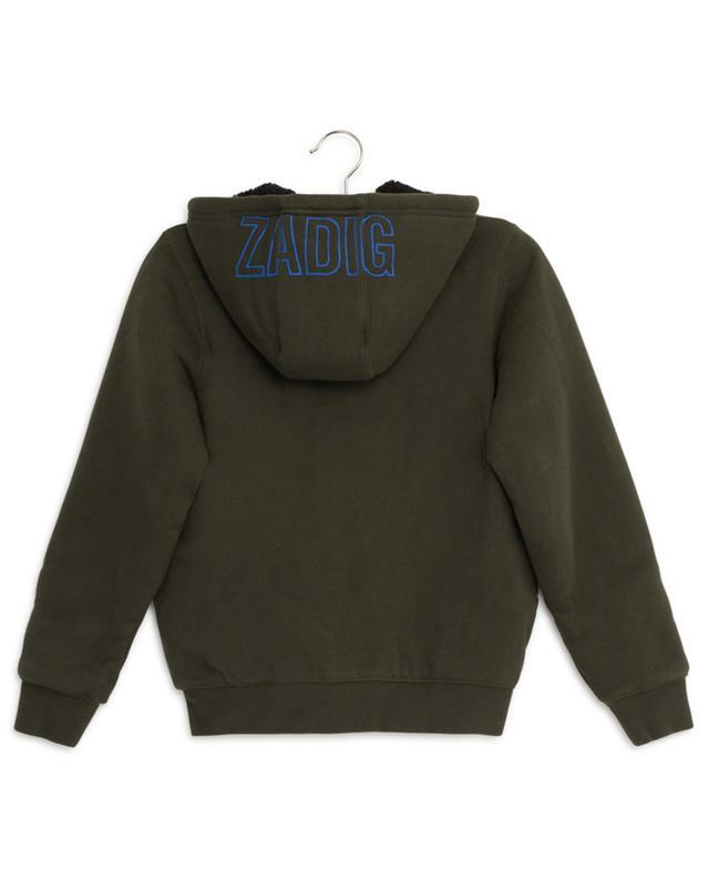 Sweat-shirt zippé doublé de fourrure synthétique Hank ZADIG & VOLTAIRE