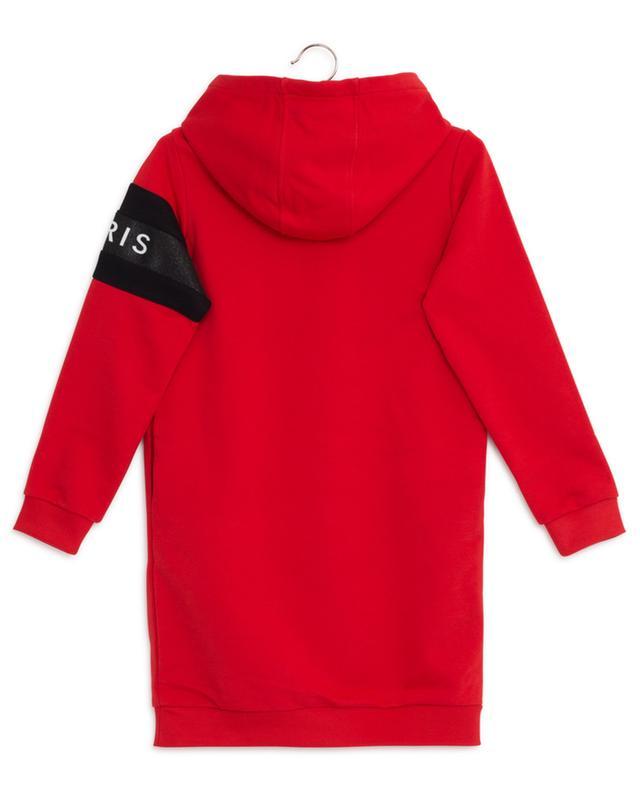 Robe sweat bicolore imprimé logo pailleté GIVENCHY