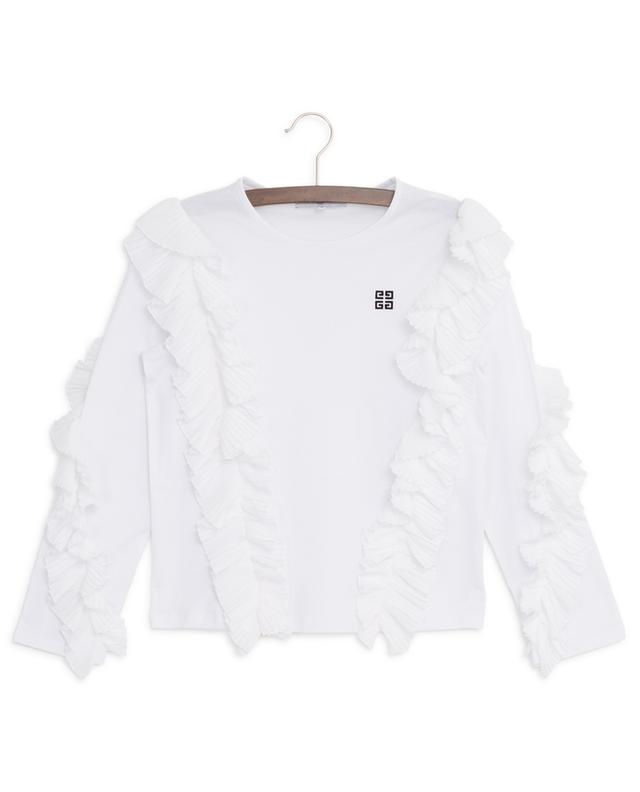 4G long-sleeved T-shirt adorned with pleated frills GIVENCHY
