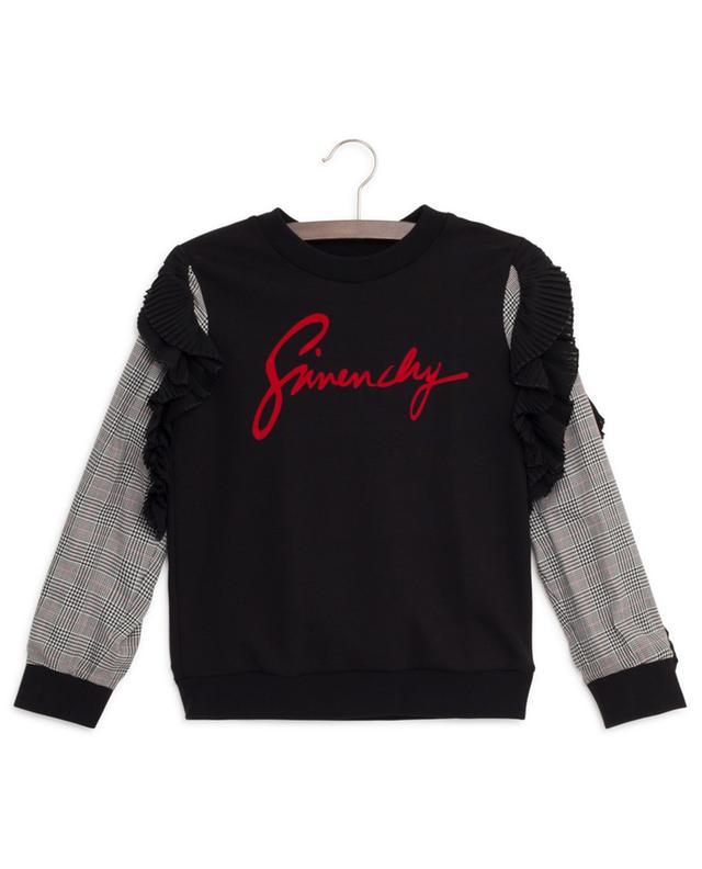 Sweat-shirt détail prince-de-galles et volants plissés GIVENCHY