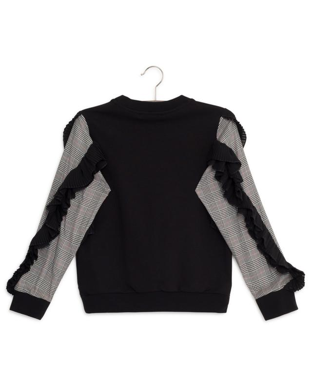 Sweatshirt with glen checks and pleated ruffles GIVENCHY