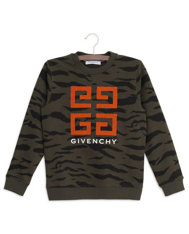 4G embroidered tiger stripe sweatshirt GIVENCHY