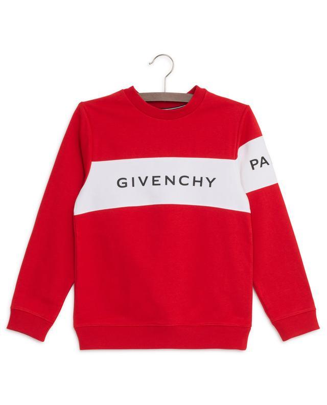Sweat-shirt bicolore Colorblock Logo GIVENCHY
