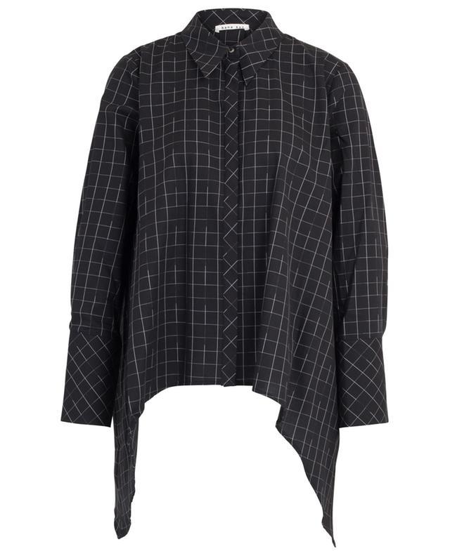 Chemise à carreaux à pans pointus Nezumi HANA SAN
