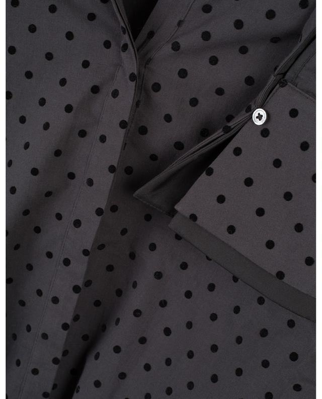 Chemise décontractée en coton à pois velours Kiji HANA SAN