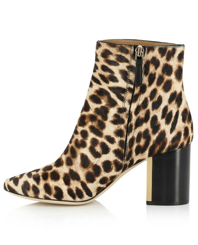Gigi 70MM heeled leopard print ankle boots TORY BURCH