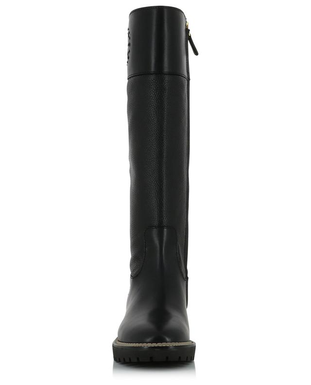 Miller 30 smooth leather and tumbled leather boots TORY BURCH