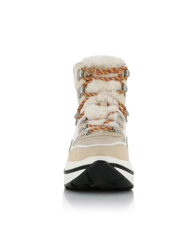 Gemini Link platform hiking lace-up boots TORY BURCH