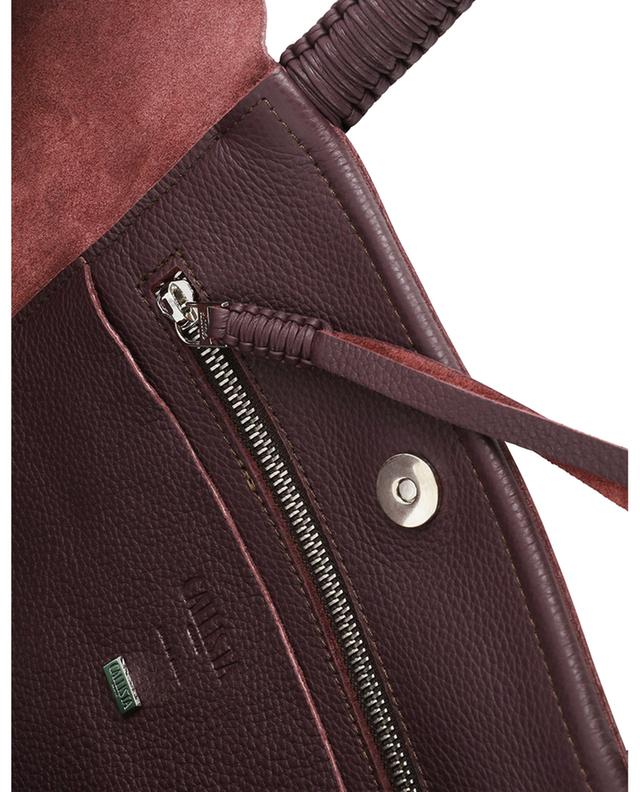 Cabernet grained leather tote bag CALLISTA