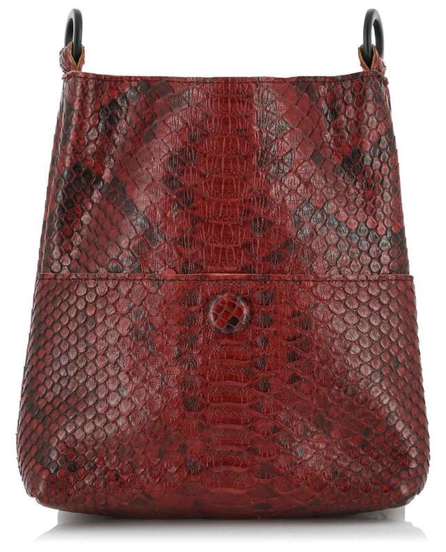 Carnelian snakeskin shoulder bag CALLISTA