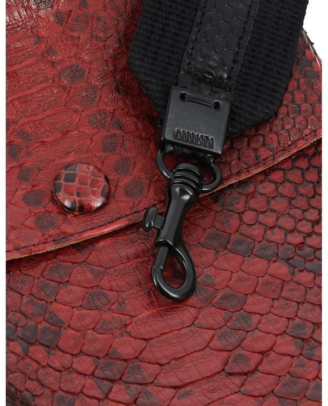 Sac porté épaule en cuir de serpent Carnelian CALLISTA