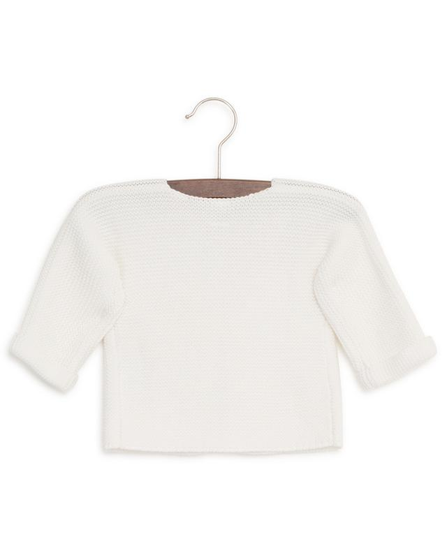 Cotton garter stitch cardigan PETIT BATEAU