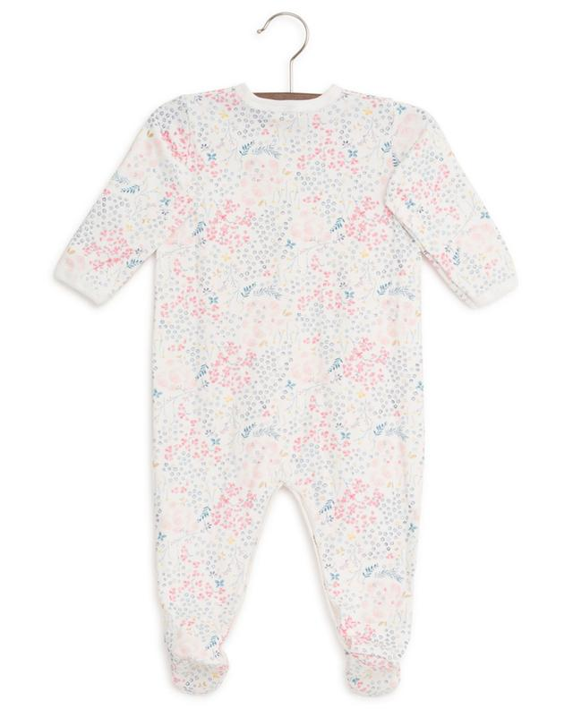 Floral cotton sleepsuit PETIT BATEAU