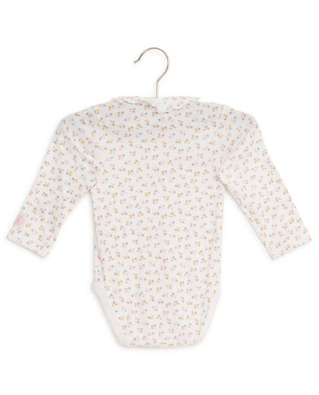 Floral print cotton bodysuit PETIT BATEAU