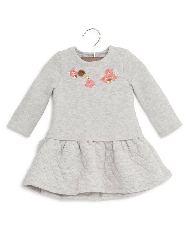 Kleid aus Baumwollvlies mit Stickereien PETIT BATEAU