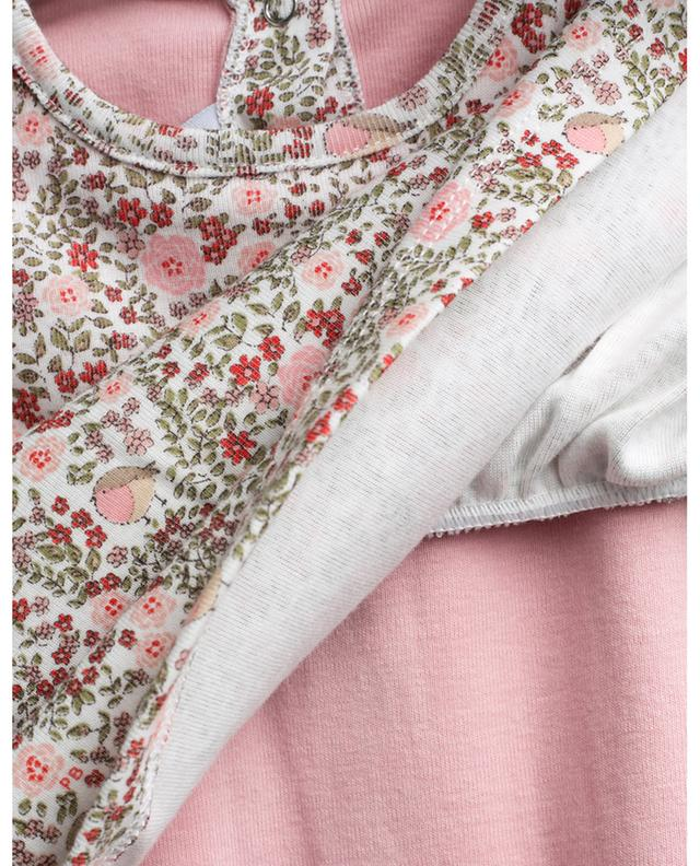 2-in-1-effect floral dress PETIT BATEAU