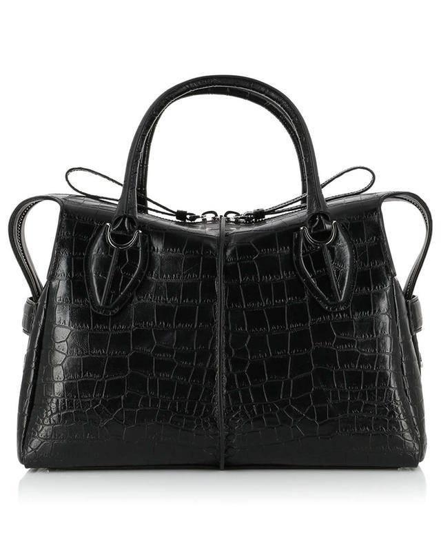 Medium croc effect leather tote bag TOD'S