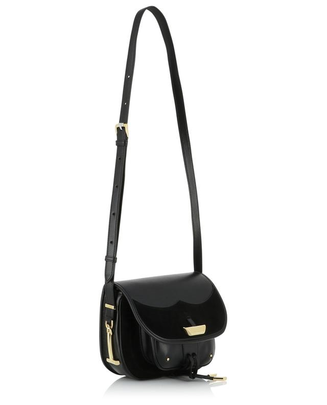 Mini shoulder bag in leather and suede with frogged fastener TOD'S