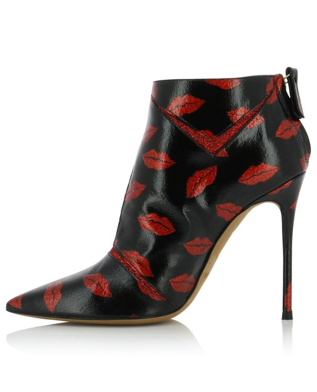 Parma heeled ankle boots with glitter lips PURA LOPEZ