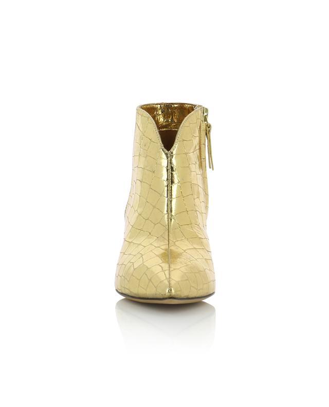 Bottines à talon dorées effet croco Padova PURA LOPEZ