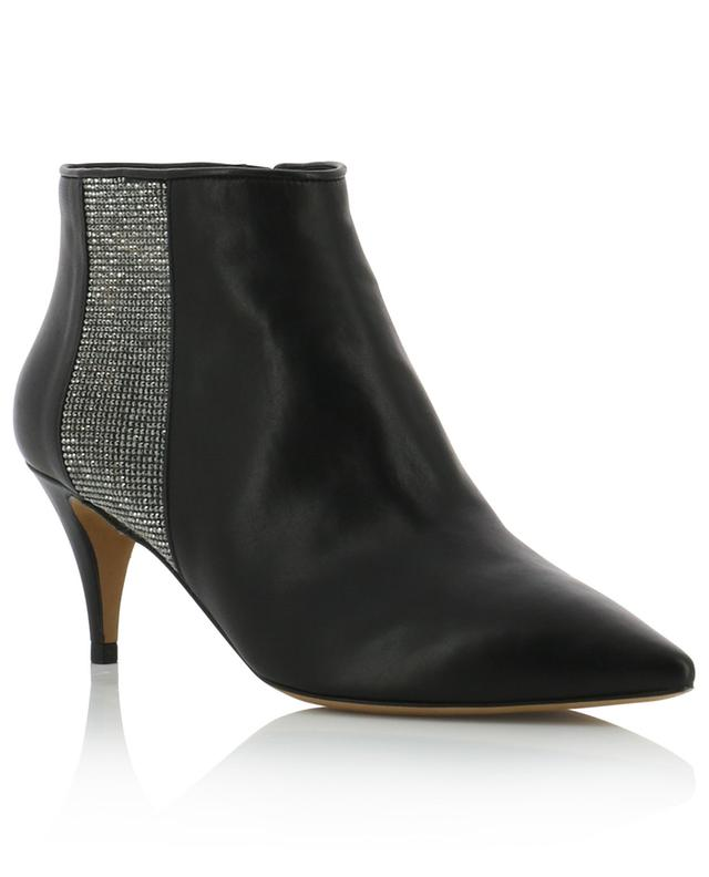 Paige rhinestone embellished heeled booties PURA LOPEZ