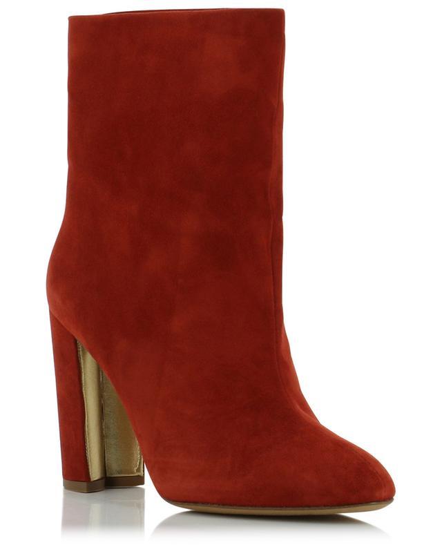 Paris heeled suede ankle boots PURA LOPEZ