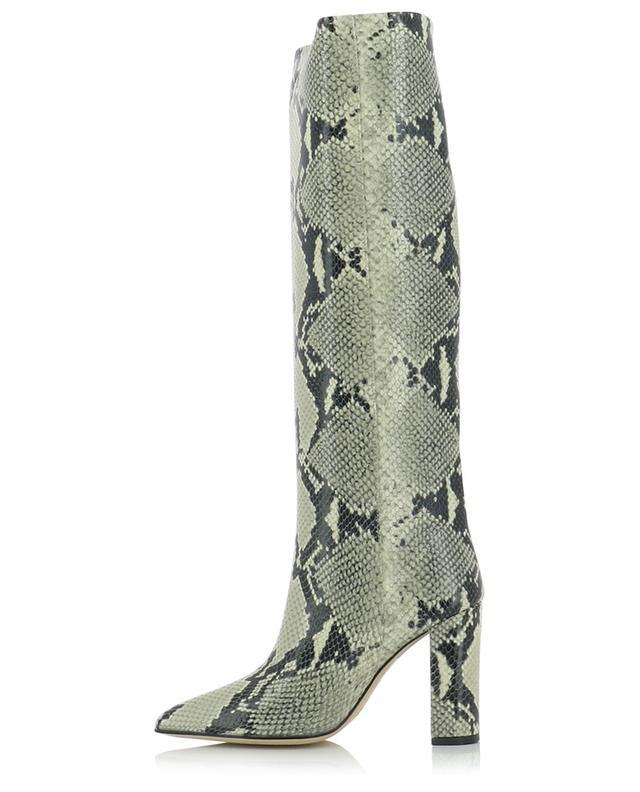 Python embossed block heel boots PARIS TEXAS