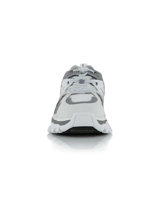 Niedrige Materialmix-Sneakers Flash ASH