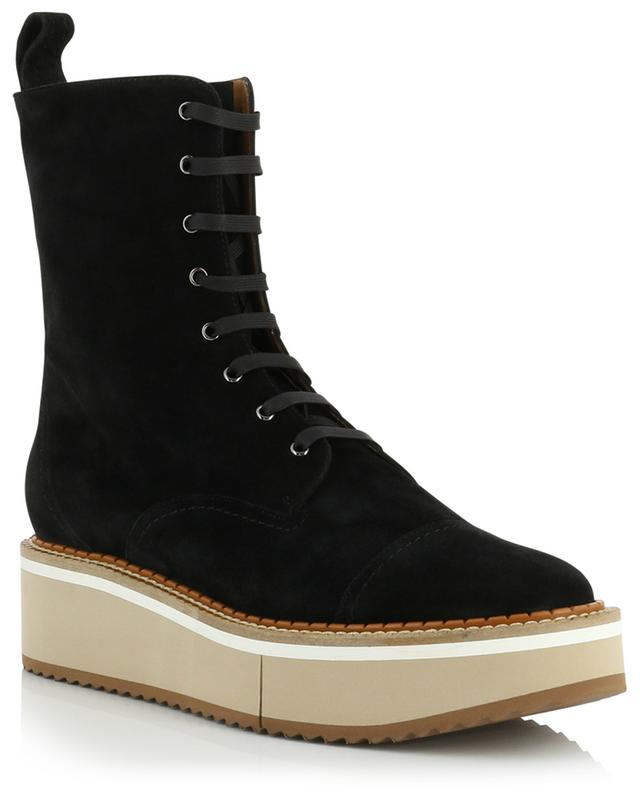 Brighton combat spirit split leather ankle boots CLERGERIE