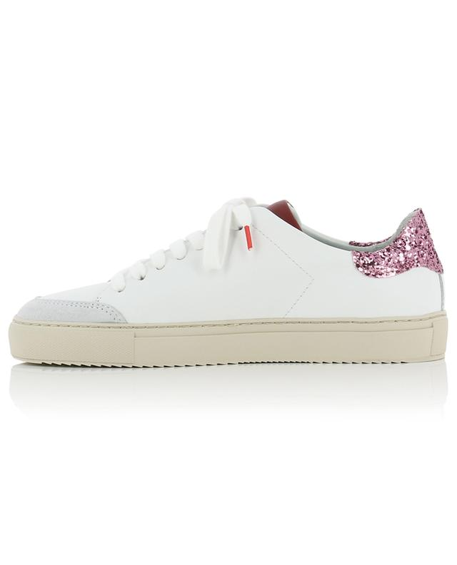Baskets basses blanches détail paillettes roses Clean 90 AXEL ARIGATO