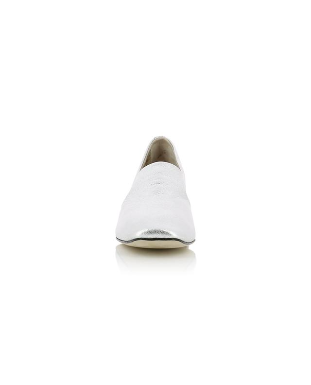 Mathis silver grained leather loafers REPETTO
