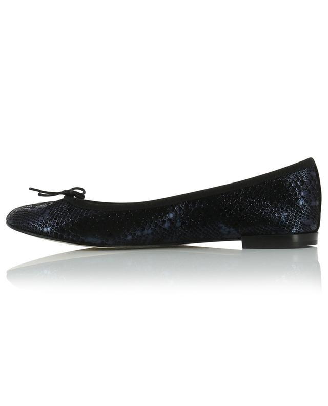 Cendrillon snakeskin effect leather ballet flats REPETTO