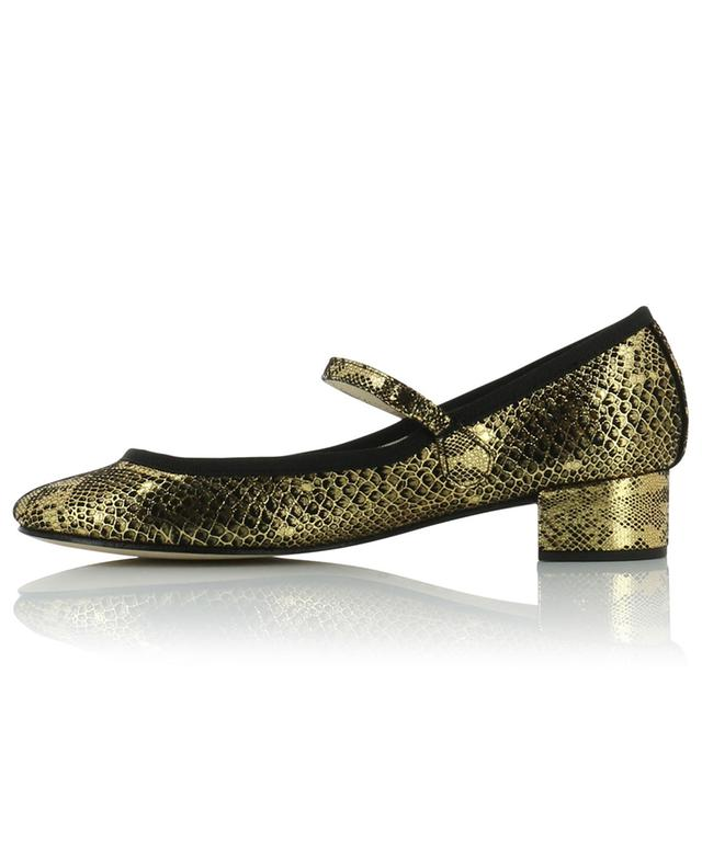 Rose golden snakeskin effect strappy pumps REPETTO