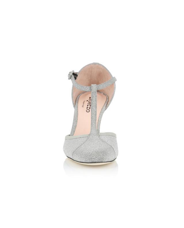 Baya glitter leather T-Strap shoes REPETTO