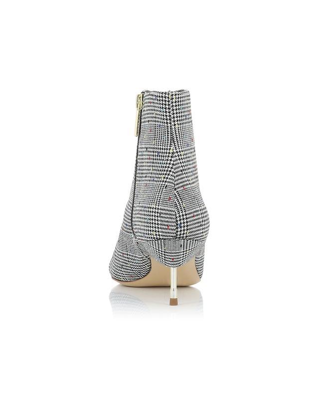 Bellevue glen check fabric booties with crystals KURT GEIGER LONDON