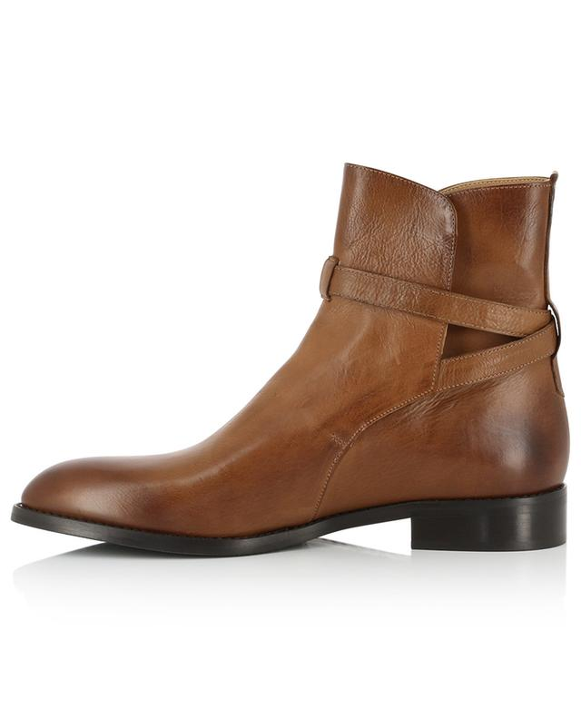 Leather ankle boots with straps BONGENIE GRIEDER