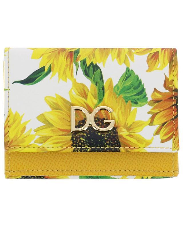 Portefeuille compact imprimé Sunflowers DG DOLCE & GABBANA