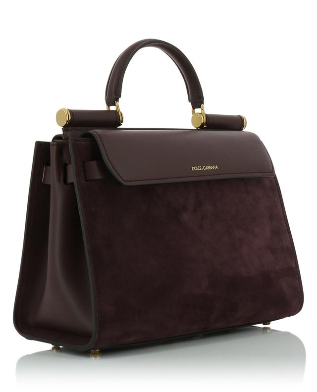 Sicily 62 suede and leather handbag DOLCE & GABBANA