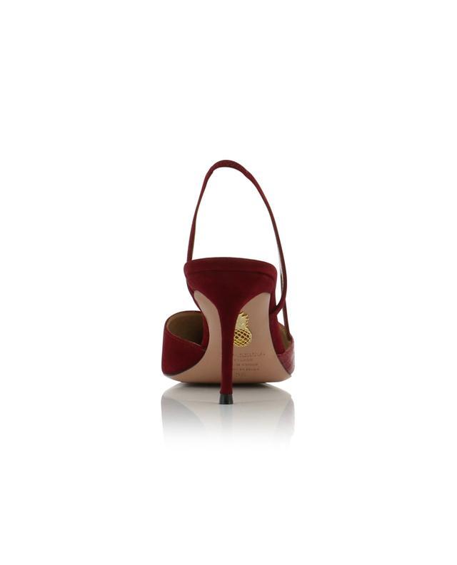 Escarpins ouverts en cuir effet croco et daim Salome 75 AQUAZZURA