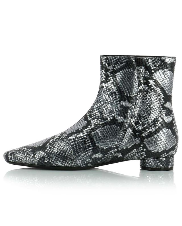Oval Snake Effect leather ankle boots BALENCIAGA