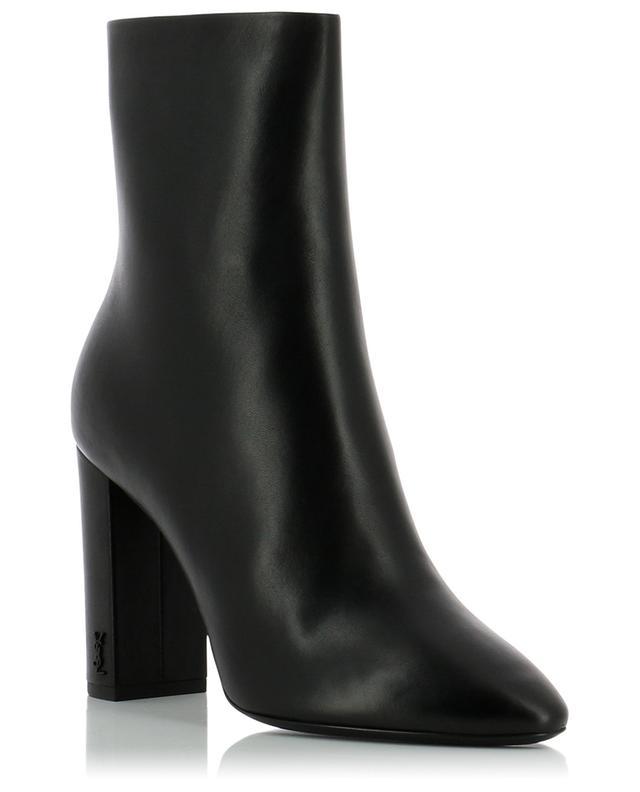 Lou 95 monogrammed nappa leather ankle boots SAINT LAURENT PARIS
