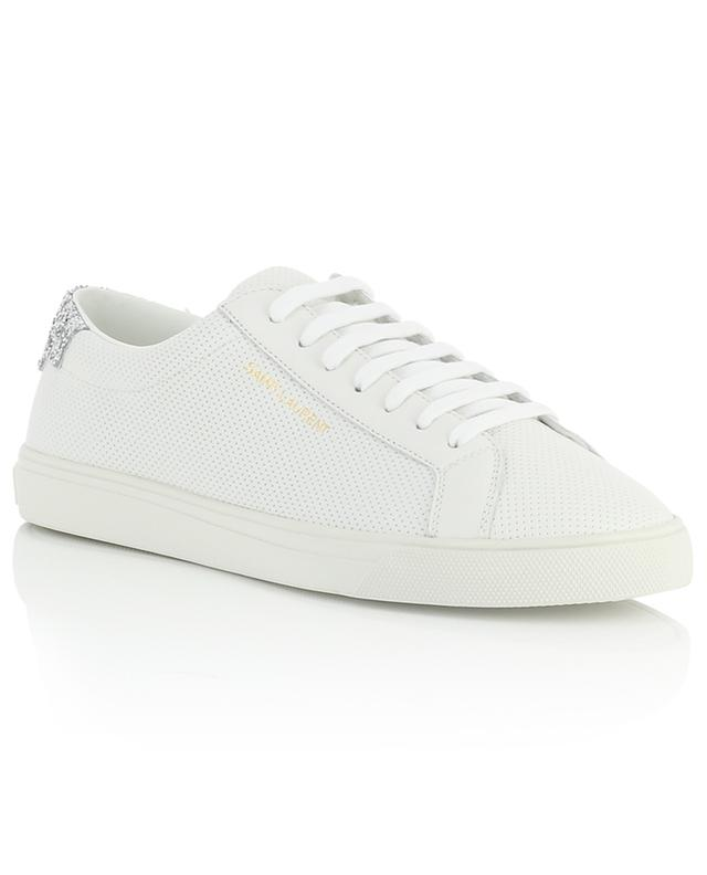 Andy perforated leather sneakers with glitter SAINT LAURENT PARIS