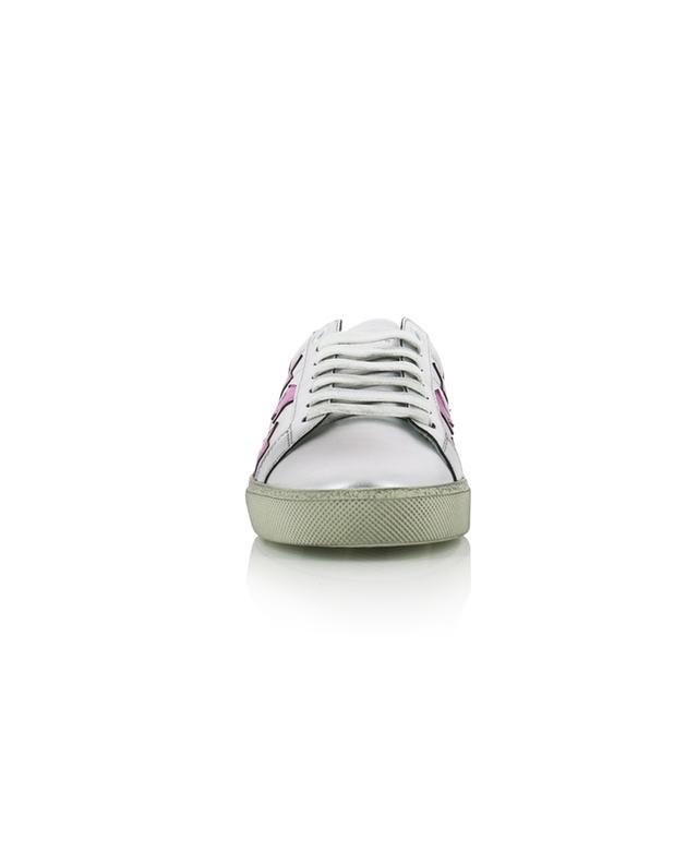 Court Classic SL/06 Star silver leather sneakers SAINT LAURENT PARIS