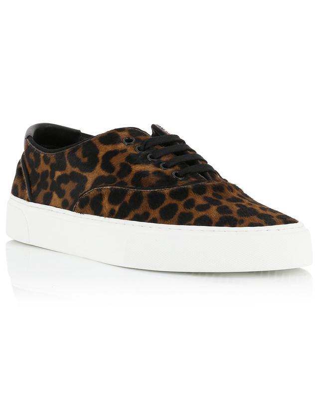 Venice leopard print pony effect leather lace-up sneakers SAINT LAURENT PARIS