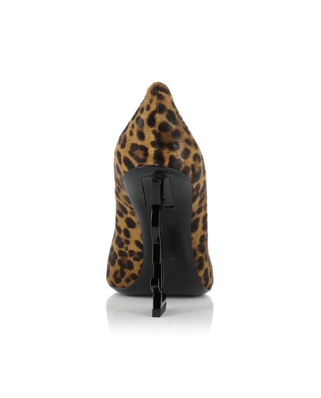 Escarpins en cuir effet poulain imprimé léopard Opyum 110 SAINT LAURENT PARIS
