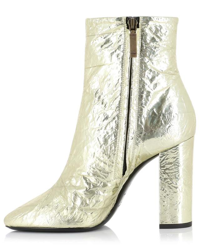 Lou 100 leather ankle boots with crackled finish SAINT LAURENT PARIS